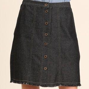 NWT Dark Denim Skirt